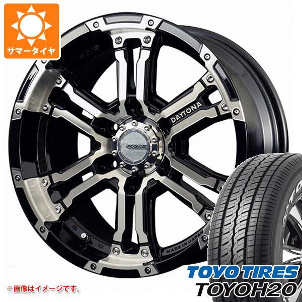 キャラバン NV350専用 サマータイヤ トーヨー H20 215/65R16C 109/107R ホワイトレター レイズ デイトナ FDX DK 6.5-16 タイヤホイール4本セット