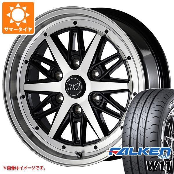 ハイエース 200系専用 サマータイヤ ファルケン W11 215/60R17C 109/107N ホワイトレター ドゥオール フェニーチェ RX2 タイヤホイール4本セット