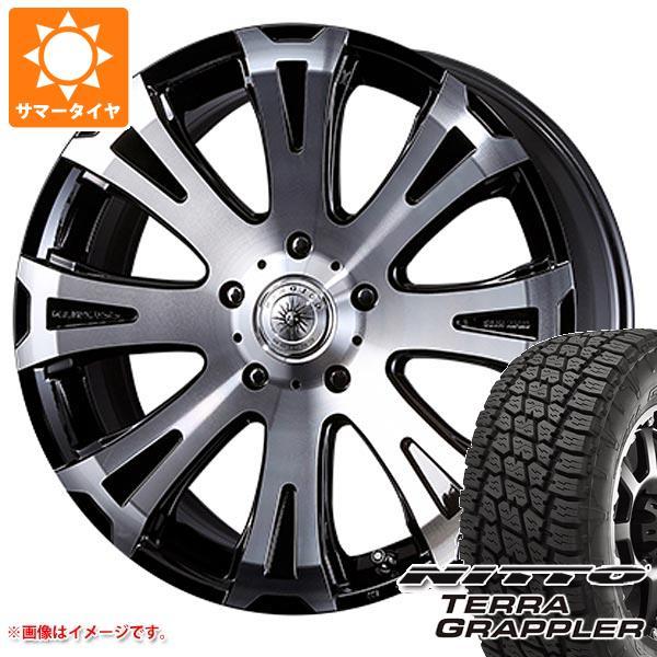 ランドクルーザー 200系専用 サマータイヤ ニットー テラグラップラー 285/45R22 114S XL クリムソン タイタン モノブロック 10.0-22 タイヤホイール4本セット
