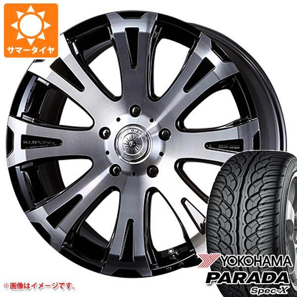 ランドクルーザー 200系専用 サマータイヤ ヨコハマ パラダ スペック-X PA02 285/45R22 114V REINF クリムソン タイタン モノブロック 10.0-22 タイヤホイール4本セット