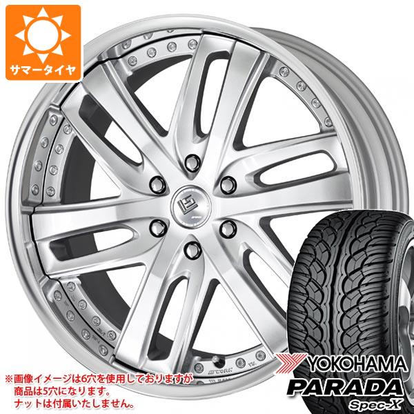 ランドクルーザー 200系専用 サマータイヤ ヨコハマ パラダ スペック-X PA02 285/45R22 114V REINF LS ブライトリング SUV 10.0-22 タイヤホイール4本セット