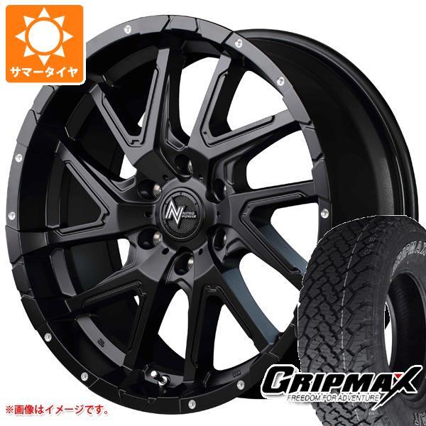 サマータイヤ 265/65R17 112T グリップマックス グリップマックス A/T アウトラインホワイトレター ナイトロパワー デリンジャー 8.0-17 タイヤホイール4本セット