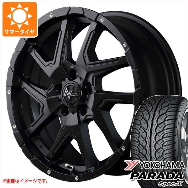 サマータイヤ 235/60R18 103V ヨコハマ パラダ スペック-X PA02 ナイトロパワー デリンジャー 7.0-18 タイヤホイール4本セット
