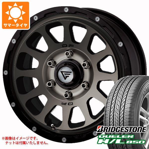 ハイエース 200系専用 サマータイヤ ブリヂストン デューラー H/L850 215/70R16 100H デルタフォース オーバル 7.0-16 タイヤホイール4本セット