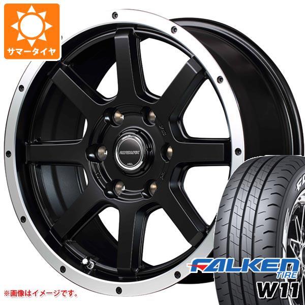 ハイエース 200系専用 サマータイヤ ファルケン W11 195/80R15 107/105N ホワイトレター ロードマックス WF-8 6.0-15 タイヤホイール4本セット