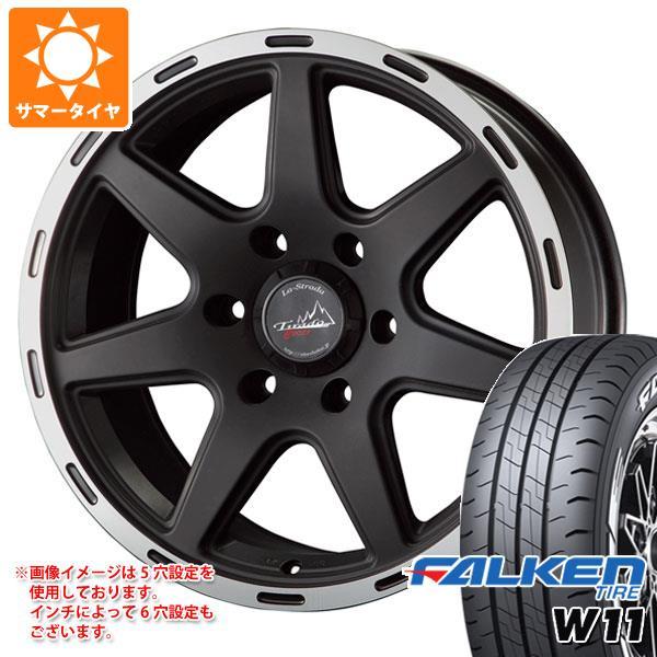 NV350キャラバン E26専用 サマータイヤ ファルケン W11 195/80R15 107/105N ホワイトレター ティラード クロス 6.0-15 タイヤホイール4本セット