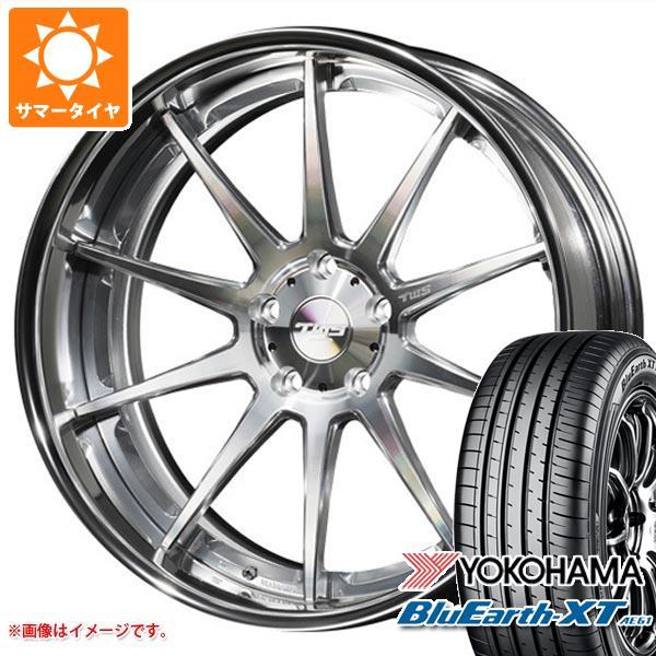 サマータイヤ 225/55R19 99V ヨコハマ ブルーアースXT AE61 2020年4月発売サイズ TWS ライツェント WS10 8.0-19 タイヤホイール4本セット