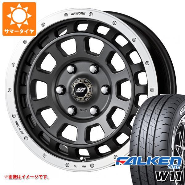 ハイエース 200系専用 サマータイヤ ファルケン W11 215/60R17C 109/107N ホワイトレター クラッグ T-グラビック 6.5-17 タイヤホイール4本セット