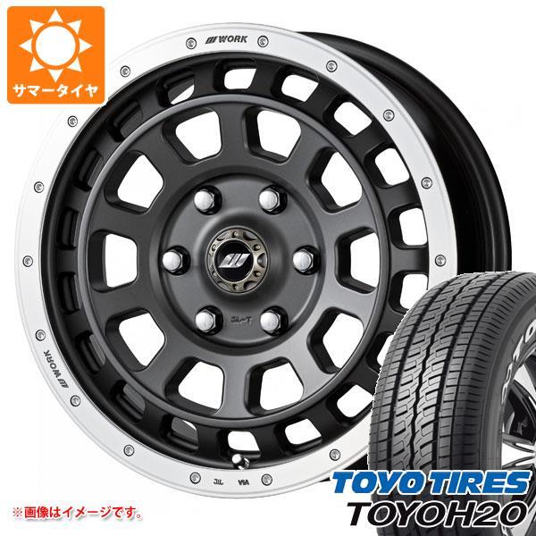 ハイエース 200系専用 サマータイヤ トーヨー H20 215/60R17C 109/107R ホワイトレター クラッグ T-グラビック 6.5-17 タイヤホイール4本セット