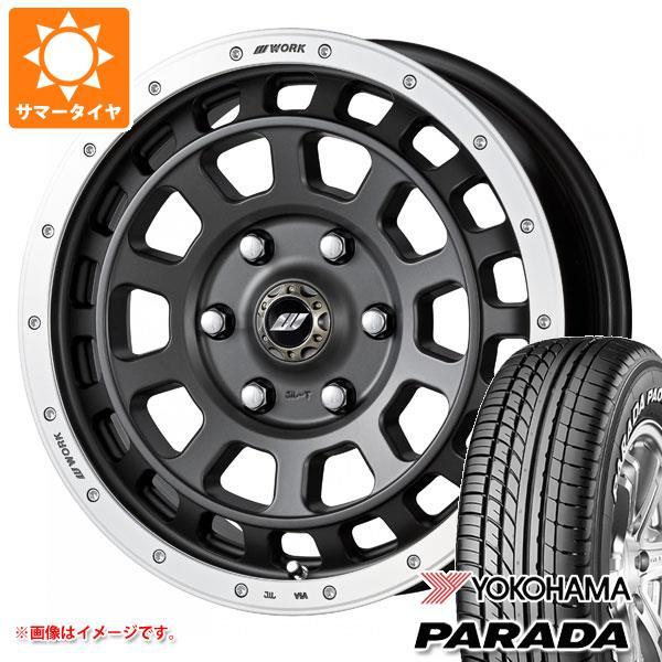 ハイエース 200系専用 サマータイヤ ヨコハマ パラダ PA03 215/60R17C 109/107S ホワイトレター クラッグ T-グラビック 6.5-17 タイヤホイール4本セット