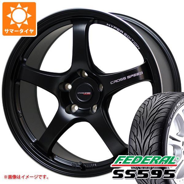 サマータイヤ 215/40R18 85W フェデラル SS595 クロススピード ハイパーエディション CR5 7.5-18 タイヤホイール4本セット