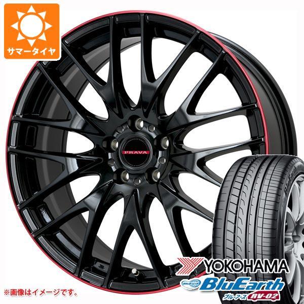 人気を誇る サマータイヤ 225/55R18 98V ヨコハマ ブルーアース RV-02 RV-02 レイシーン プラバ サマータイヤ 98V 9M 7.5-18 タイヤホイール4本セット, キッズ&ベビー通販 リッカティル:02a71e7a --- kvp.co.jp