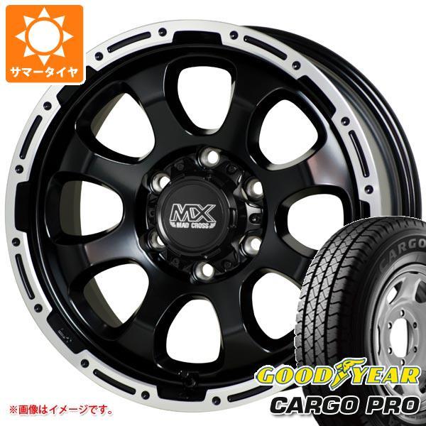 キャラバン NV350専用 サマータイヤ グッドイヤー カーゴ プロ 195/80R15 107/105L マッドクロスグレイス GB/P 6.0-15 タイヤホイール4本セット