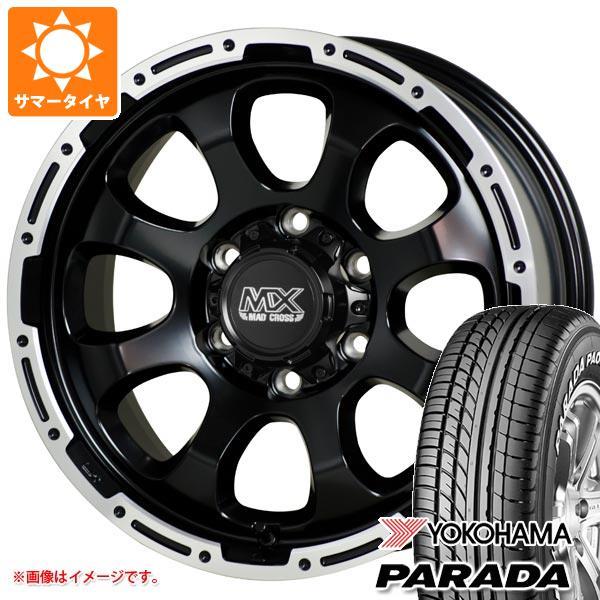 ハイエース 200系専用 サマータイヤ ヨコハマ パラダ PA03 215/65R16C 109/107S ホワイトレター マッドクロスグレイス 6.5-16 タイヤホイール4本セット