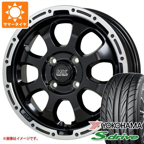 サマータイヤ 165/55R14 72V ヨコハマ DNA S.ドライブ ES03 マッドクロスグレイス GB/P 4.5-14 タイヤホイール4本セット