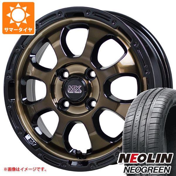 サマータイヤ 165/55R15 75H ネオリン ネオグリーン マッドクロスグレイス 4.5-15 タイヤホイール4本セット