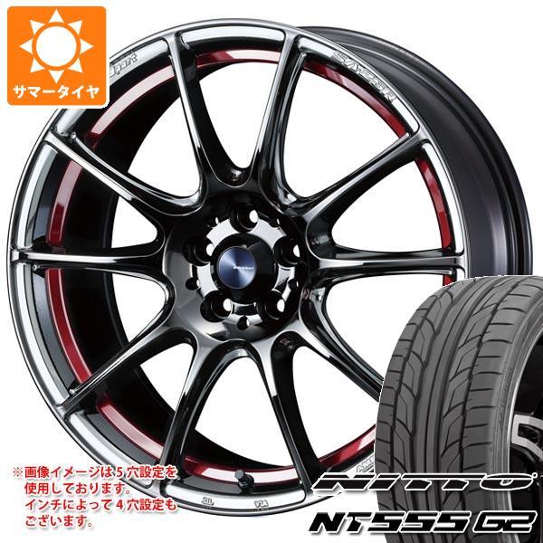 【期間限定お試し価格】 サマータイヤ 235/40R18 95Y XL ニットー NT555 G2 ウェッズスポーツ SA-25R 8.0-18 タイヤホイール4本セット, いいもん b010646b