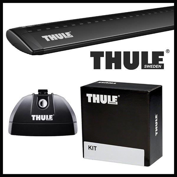 THULE スーリー ミツビシ RVR(オープンギアは適応なし) ダイレクトルーフレール付 GA3W H22/2~ ルーフキャリア取付1台分セット TH753+TH7113B+TH4017セット