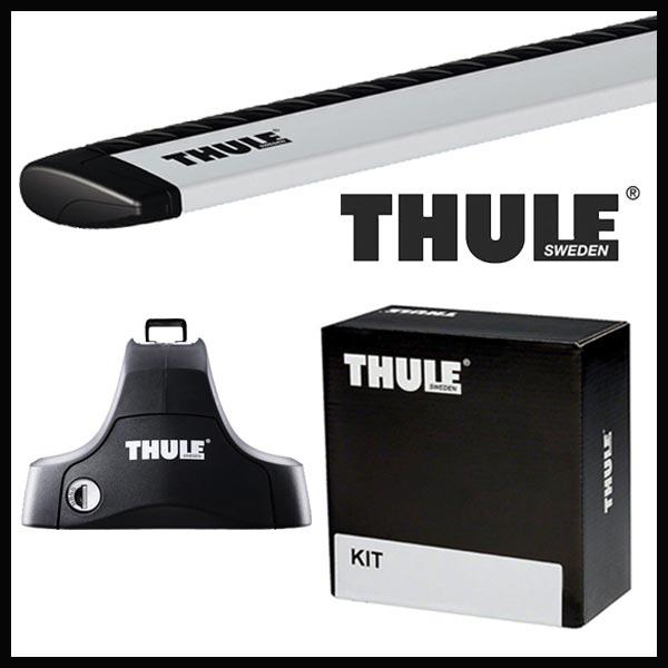 THULE スーリー トヨタ プリウスα パノラマルーフ可 ZUW40W/41W H23/5~ ルーフキャリア取付セット TH754+TH969+TH1668セット