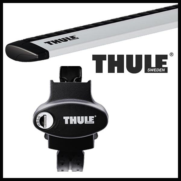 THULE スーリー ニッサン エクストレイル ルーフレール付 T32 H25/12~ ルーフキャリア取付セット TH757+TH961セット