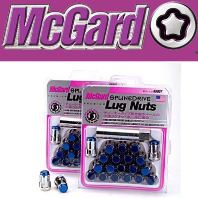 【正規品】 マックガード(McGard) MCG-65012BL スプラインドライブ ラグナット ブルー(キャップ)/クローム(ナット) M12×P1.25 21HEX 20個入 スプラインドライブナット