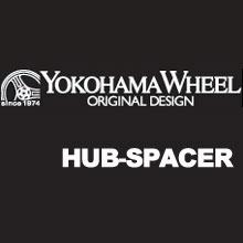 4個 (1台分) YOKOHAMA WHEEL ハブ付きスペーサー インポートカー用 (1組2個入x2セット)