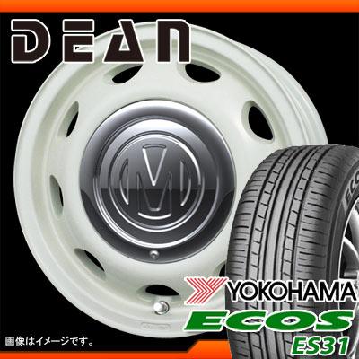 サマータイヤ 155/65R14 75S ヨコハマ エコス ES31 & ディーン ミニ 5.0-14 タイヤホイール4本セット
