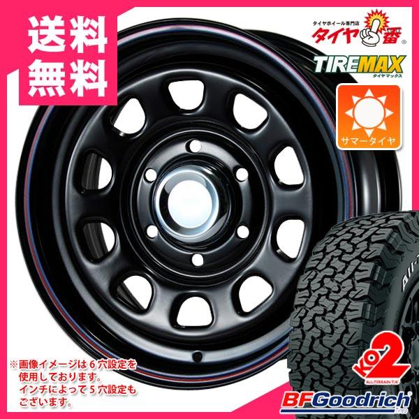 サマータイヤ 235/70R16 104/101S BFグッドリッチ オールテレーン T/A KO2 ホワイトレター デイトナ SS ブラック 7.0-16 タイヤホイール4本セット
