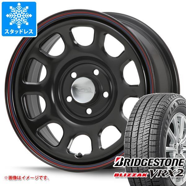 スタッドレスタイヤ ブリヂストン ブリザック VRX2 215/65R16 98Q & デイトナ SS ブラック 新型デリカD5対応 7.0-16 タイヤホイール4本セット 215/65-16 BRIDGESTONE BLIZZAK VRX2