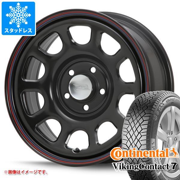 スタッドレスタイヤ コンチネンタル バイキングコンタクト7 215/65R16 102T XL & デイトナ SS ブラック 新型デリカD5対応 7.0-16 タイヤホイール4本セット 215/65-16 CONTINENTAL VikingContact 7