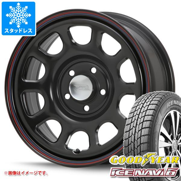 スタッドレスタイヤ グッドイヤー アイスナビ6 215/65R16 98Q & デイトナ SS ブラック 新型デリカD5対応 7.0-16 タイヤホイール4本セット 215/65-16 GOODYEAR ICE NAVI 6