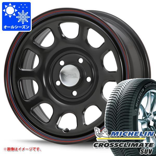 オールシーズン 215/65R16 102V XL ミシュラン クロスクライメート SUV デイトナ SS ブラック 新型デリカD5対応 7.0-16 タイヤホイール4本セット