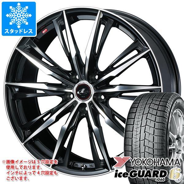 2020年製 スタッドレスタイヤ ヨコハマ アイスガードシックス iG60 175/70R14 84Q & レオニス GX 5.5-14 タイヤホイール4本セット 175/70-14 YOKOHAMA iceGUARD 6 iG60