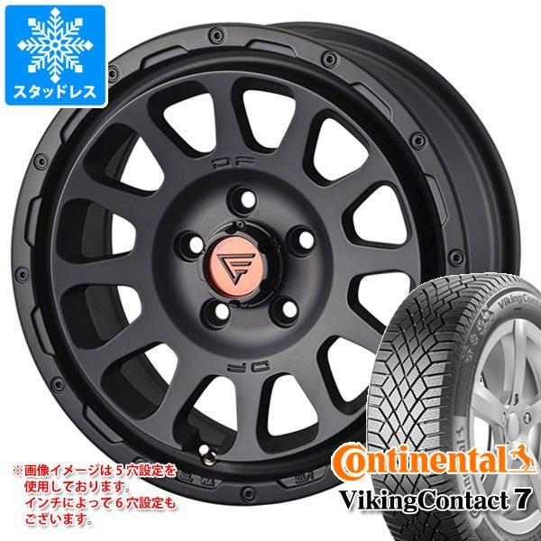 スタッドレスタイヤ コンチネンタル バイキングコンタクト7 215/70R16 100T & デルタフォース オーバル 7.0-16 タイヤホイール4本セット 215/70-16 CONTINENTAL VikingContact 7