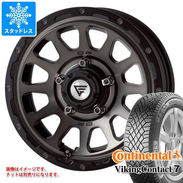 ジムニー専用 スタッドレス コンチネンタル バイキングコンタクト7 215/70R16 100T デルタフォース オーバル タイヤホイール4本セット