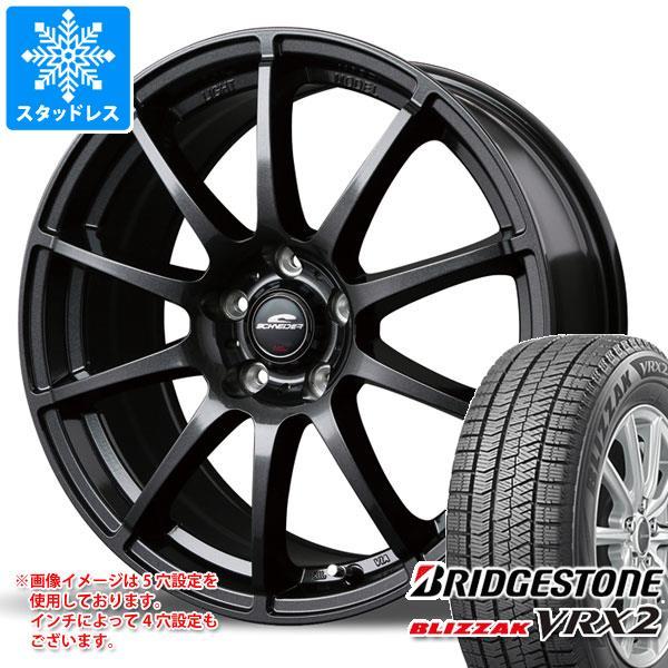 スタッドレスタイヤ ブリヂストン ブリザック VRX2 245/45R18 100Q XL & シュナイダー スタッグ 8.0-18 タイヤホイール4本セット 245/45-18 BRIDGESTONE BLIZZAK VRX2