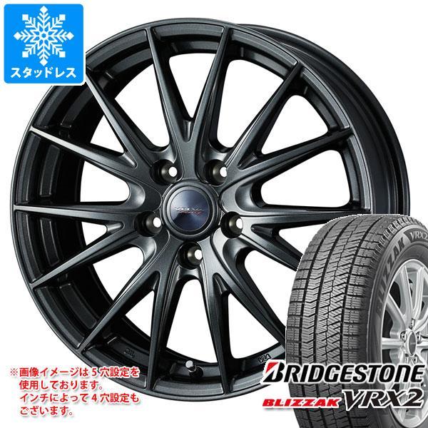 スタッドレスタイヤ ブリヂストン ブリザック VRX2 135/80R13 70Q & ヴェルヴァ スポルト2 4.0-13 タイヤホイール4本セット 135/80-13 BRIDGESTONE BLIZZAK VRX2