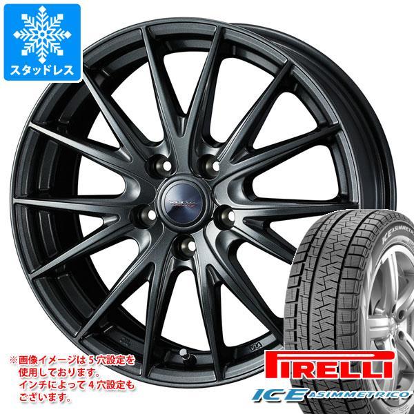 スタッドレスタイヤ ピレリ アイスアシンメトリコ 245/45R18 100Q XL & ヴェルヴァ スポルト2 8.0-18 タイヤホイール4本セット 245/45-18 PIRELLI ICE ASIMMETRICO