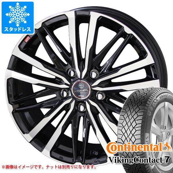 スタッドレスタイヤ コンチネンタル バイキングコンタクト7 245/50R18 104T XL & スマック クレスト 8.0-18 タイヤホイール4本セット 245/50-18 CONTINENTAL VikingContact 7