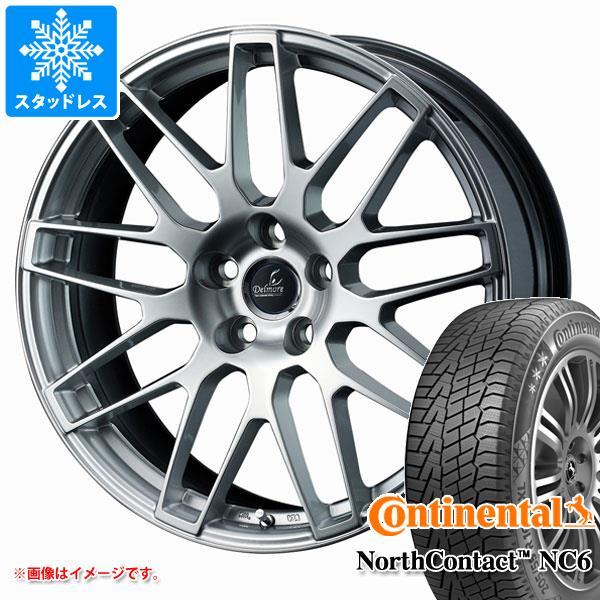 NX専用 スタッドレス コンチネンタル ノースコンタクト NC6 235/55R18 104T XL デルモア LC.S タイヤホイール4本セット