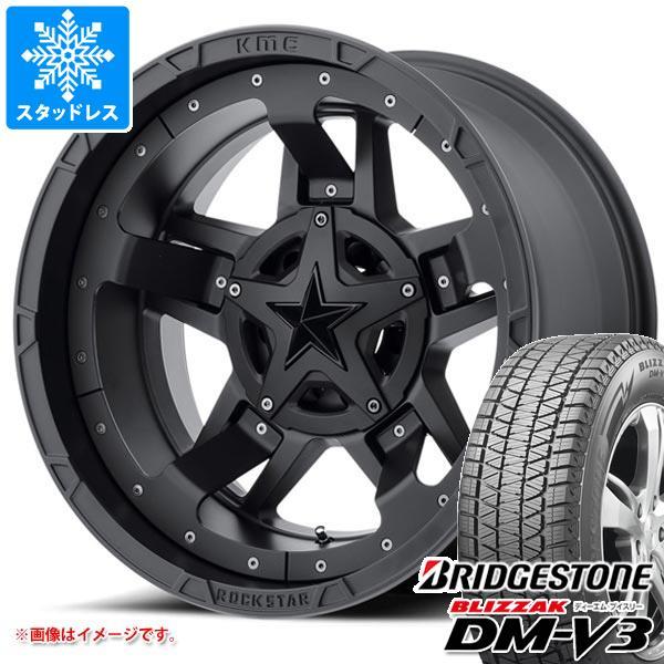 スタッドレスタイヤ ブリヂストン ブリザック DM-V3 265/70R17 115Q & KMC XD827 ロックスター3 8.0-17 タイヤホイール4本セット 265/70-17 BRIDGESTONE BLIZZAK DM-V3