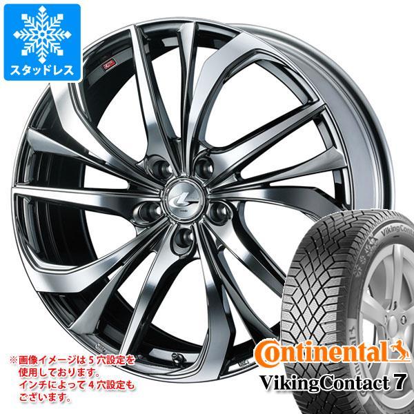 スタッドレスタイヤ コンチネンタル バイキングコンタクト7 235/65R18 110T XL & レオニス TE 8.0-18 タイヤホイール4本セット 235/65-18 CONTINENTAL VikingContact 7