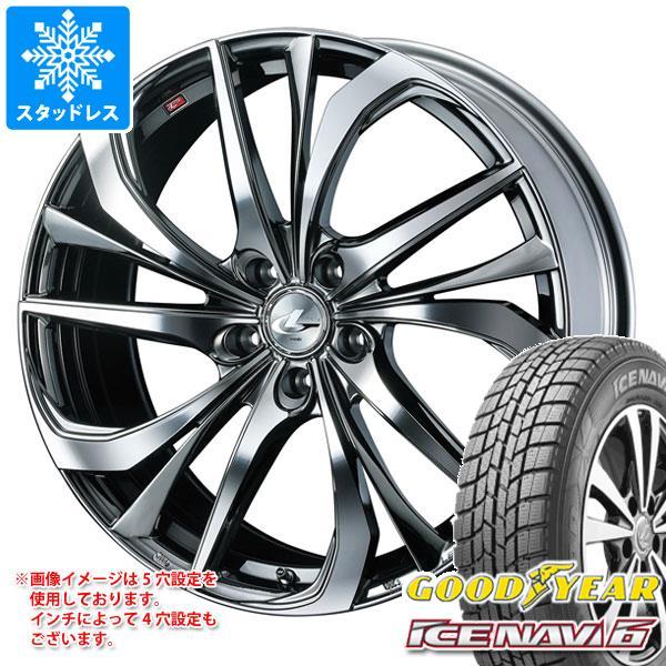 スタッドレスタイヤ グッドイヤー アイスナビ6 175/60R16 82Q & レオニス TE BMCミラーカット 6.0-16 タイヤホイール4本セット 175/60-16 GOODYEAR ICE NAVI 6