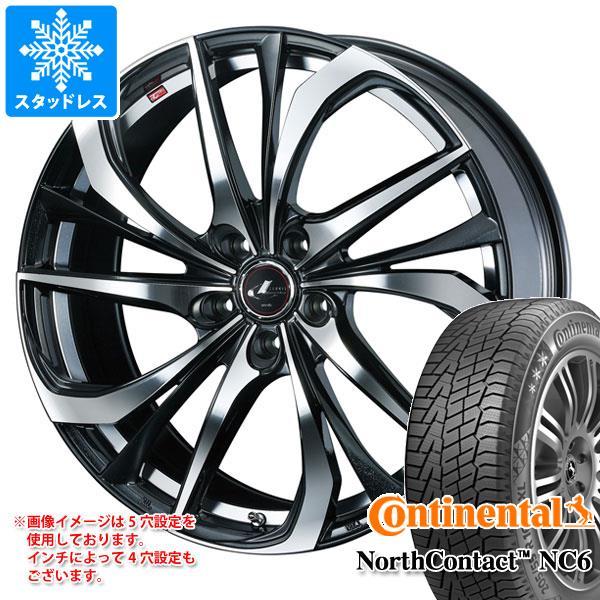 スタッドレスタイヤ コンチネンタル ノースコンタクト NC6 245/45R18 100T XL & レオニス TE 8.0-18 タイヤホイール4本セット 245/45-18 CONTINENTAL NorthContact NC6