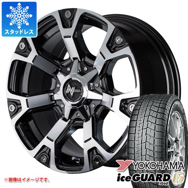 スタッドレスタイヤ ヨコハマ アイスガードシックス iG60 215/65R16 98Q & ナイトロパワー ウォーヘッド 7.0-16 タイヤホイール4本セット 215/65-16 YOKOHAMA iceGUARD 6 iG60