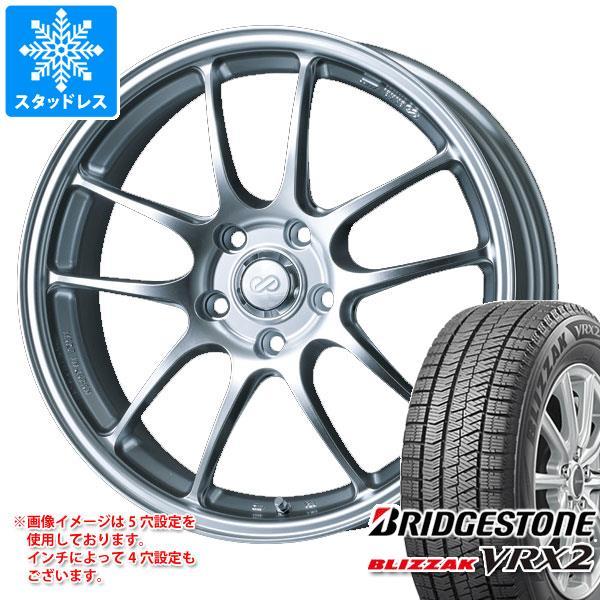 スタッドレスタイヤ ブリヂストン ブリザック VRX2 195/60R17 90Q & ENKEI エンケイ パフォーマンスライン PF01 6.5-17 タイヤホイール4本セット 195/60-17 BRIDGESTONE BLIZZAK VRX2