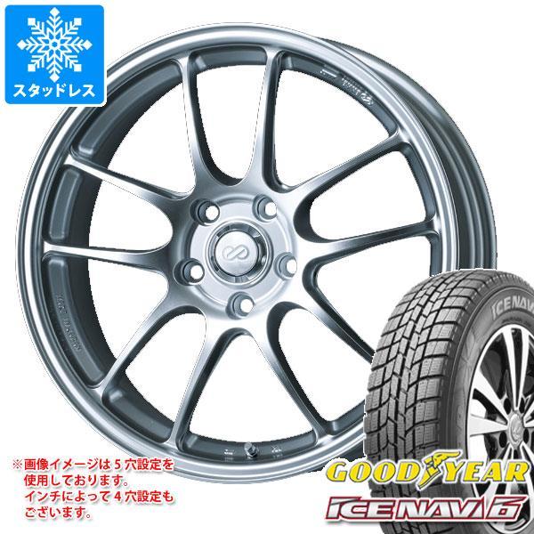 スタッドレスタイヤ グッドイヤー アイスナビ6 175/60R16 82Q & ENKEI エンケイ パフォーマンスライン PF01 6.5-16 タイヤホイール4本セット 175/60-16 GOODYEAR ICE NAVI 6
