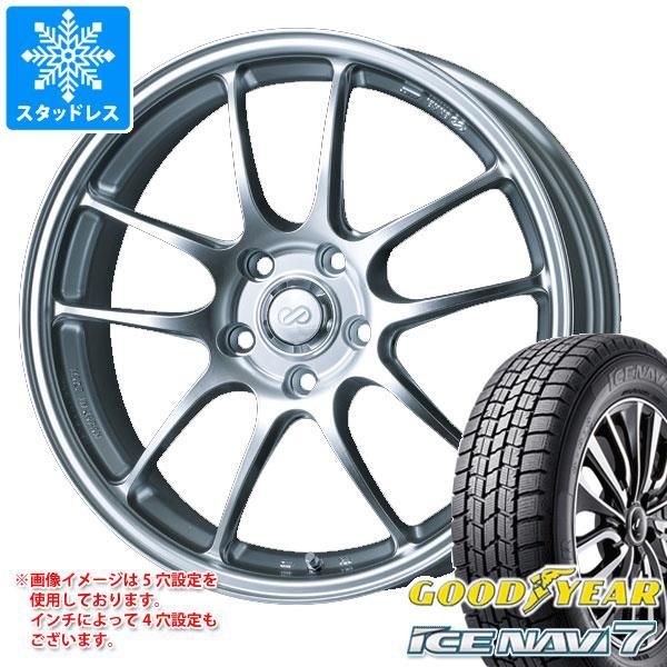 スタッドレスタイヤ グッドイヤー アイスナビ7 175/60R16 82Q & ENKEI エンケイ パフォーマンスライン PF01 6.5-16 タイヤホイール4本セット 175/60-16 GOODYEAR ICE NAVI 7