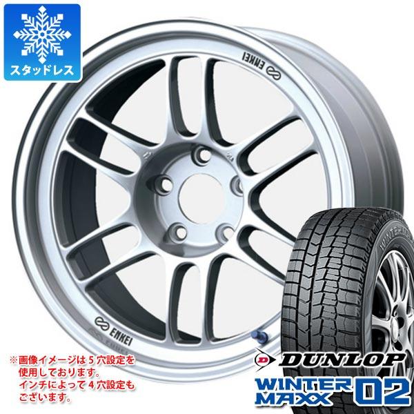 スタッドレスタイヤ ダンロップ ウインターマックス02 WM02 205/65R16 95Q & ENKEI エンケイ レーシング RPF1 7.0-16 タイヤホイール4本セット 205/65-16 DUNLOP WINTER MAXX 02 WM02