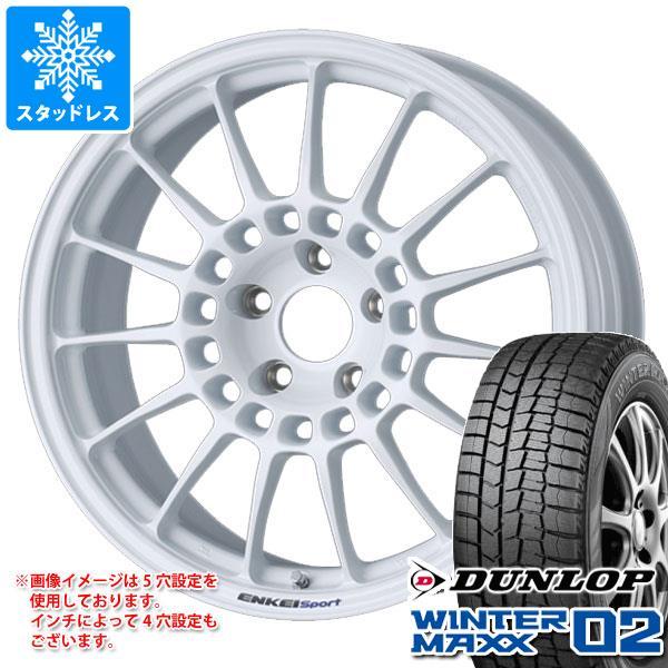スタッドレスタイヤ ダンロップ ウインターマックス02 WM02 215/45R17 87Q & エンケイ スポーツ RC-T5 7.5-17 タイヤホイール4本セット 215/45-17 DUNLOP WINTER MAXX 02 WM02:タイヤ1番